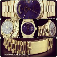 18k Yellow Gold Blue Dial Day-Date Rolex
