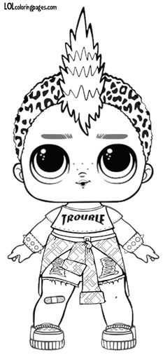Lol Punk Boy Coloring Pages from Lol Doll Coloring Pages Printable. Toys LOL are treading the peak of popularity among children throughout the world. Even though the doll inside the LOL Surprise ball is not exactly rev. Coloring Sheets For Boys, Boy Coloring, Mermaid Coloring Pages, Coloring Pages For Girls, Cartoon Coloring Pages, Disney Coloring Pages, Coloring Pages To Print, Colouring Pages, Printable Coloring Pages