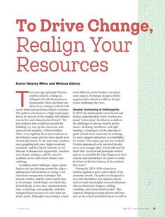 To Drive Change, Realign Your Resources, from Educational Leadership - Summer 2017