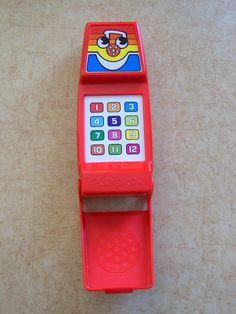 Vintage Orphanage / Mogwai / P.C. Tees - Playskool Electronic Musical Phone WORKS - vintage 80s 1980s - toy cell phone telephone- still works