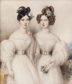 1831 Johann Nepomuk Ender - Two girls in white dresses