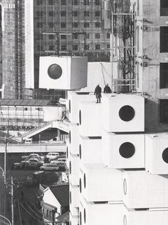 Nakagin Capsule Tower (1972) by Kisho Kurokawa. via here and here