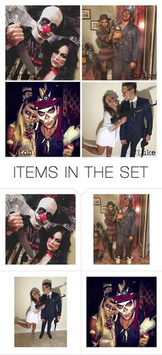 """""""Scary Couple Halloween Costume"""" by mamaloser1 ❤ liked on Polyvore featuring art"""