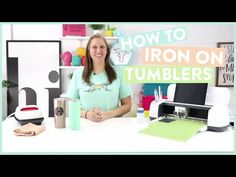 Today, we're going to teach you How To Iron-On Tumblers. We have tested this multiple times to make sure that we have the perfect tutorial for you. Cricut Tutorials, Cricut Ideas, Circuit Design, Easy Diy Gifts, Iron On Vinyl, Craft Corner, Silhouette Cameo Projects, Cricut Creations, Cricut Vinyl