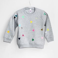 Sweater Triangle grey from pom berlin