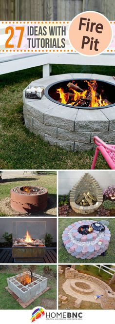 4 Stupendous Cool Ideas: Large Fire Pit Fireplaces fire pit bowl back yard.Fire Pit Cover Back Yard fire pit sign hot tubs. Diy Fire Pit, Fire Pit Backyard, Backyard Patio, Backyard Landscaping, Fire Pits, Backyard Fireplace, Backyard Projects, Outdoor Projects, Diy Projects