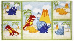 Have You Seen My Dinosaur Panel Cotton Fabric - Sand by Beverlys.com