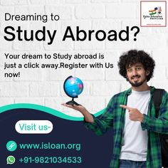 Paras education services is backbone of your financial support,choose us and let us guide you step by step in your dreams. For all your queries contact us on:- Visit our website and get yourself registered-www.isloan.org Email us on- info@isloan.org Study Abroad, Dreaming Of You, Dreams, Let It Be, Education, Website, Onderwijs, Learning