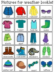 clothes activities for kids * FREEBIE*The Weather Is.What Can I Wear Clothing Activity for Special Needs Weather Activities Preschool, Teaching Weather, Seasons Activities, Creative Curriculum Preschool, Sorting Activities, What To Wear Weather, Weather For Kids, Weather Unit, Clothes Worksheet