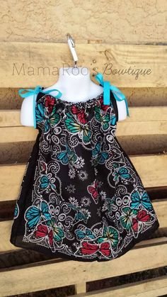 Butterfly Bandana Dress. Baby Girl. Toddler Girl. Baby Clothing. Girls Dress. Girls Clothing. Handmade.