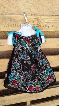 Butterfly Bandana Dress. Baby Girl. Toddler Girl. Baby Clothing. Girls Dress. Girls Clothing. Handmade.