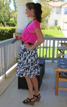 summer skirt black and white