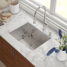Kraus 30-inch Undermount Single Bowl Stainless Steel Kitchen Sink ...
