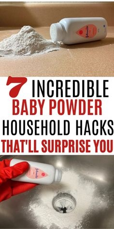 Here are some splendid baby powder hacks that will definitely not disappoint you. #cleaning hacks #baby powder hacks #household hacks Baby Life Hacks, Useful Life Hacks, Diy Cleaning Products, Cleaning Hacks, Baby Powder Uses, Laundry Labels, Baby Weaning, Breastfeeding Tips, Traveling With Baby