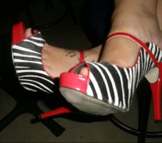 Zebra print shoes!! lol...just because they matched the event SO well and because I LOVE shoes!!