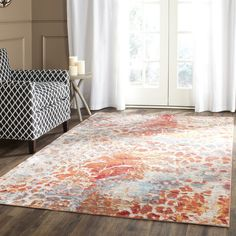 Safavieh's Valenica collection is inspired by timeless Traditional designs crafted with the softest polyester available.