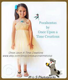 Infant Size Pocahontas Inspired Princess Tutu Dress - Birthday Outfit, Halloween Costume - Newborn 3 6 9 12 Months - Disney Baby Princess. $24.99, via Etsy.