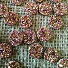 Hey, I found this really awesome Etsy listing at https://www.etsy.com/listing/260420820/12mm-gold-ab-resin-druzy-cabochons