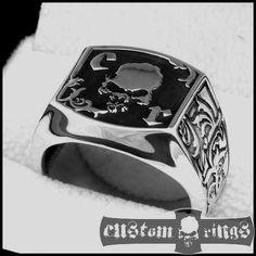 Barocco Leaves Ring - Custom Engraving Custom Rings - biżuteria dla mężczyzn