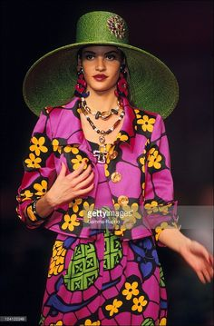 ready to wear spring -summer 1992 in Paris, France in October, 1991 - Christian Lacroix.