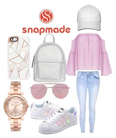 """Snapmade"" by watermelon-cdxii ❤ liked on Polyvore featuring Glamorous, adidas Originals, New Look, Casetify, Boohoo, Michael Kors, snapmade and snapchatworthy"