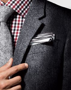 Tweed on tweed is a little much, but I like the shirt tie combo.