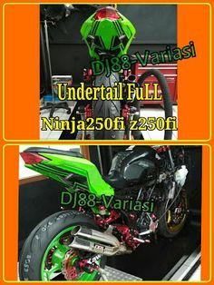 Undertail ninja 250 fi z250 fi full airbrush selancar kolong spakbor variasi sein led belakang aksesoris ninja 250 fi z250 fi