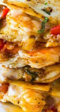 I have to say this quesadillas look amazing and is a great twist on quesadillas. # quesadillas # quesadillas with shrimp # shrimp quesadillas Fish Recipes, Seafood Recipes, Mexican Food Recipes, Great Recipes, Dinner Recipes, Cooking Recipes, Healthy Recipes, Ethnic Recipes, Recipies
