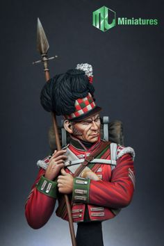 Sergeant of the 79th Cameron Highlanders at Waterloo. A stunning 1/10 scale bust from MJK Miniatures. Click the picture for more details