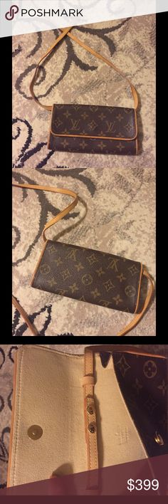 """Louis Vuitton small purse price firm Authentic, excellent condition. Size is 8""""x 4"""" like a large wallet. The strap is removable. Price is firm. Can post more photos, but please don't ask if you're not seriously interested. No trades! Louis Vuitton Bags Crossbody Bags"""