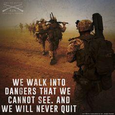 we talk the talk and walk the walk. Airforce Wife, Usmc, Marines, Improvise Adapt Overcome, Military Salute, Semper Fidelis, Us Marine Corps, American Pride, Den