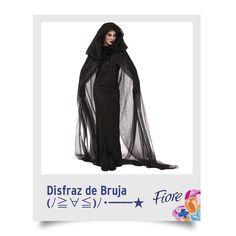 Con o sin maquillaje, el disfraz de bruja es un clásico al que siempre podrás recurrir. Compra una tela negra ligera para hacer tu capa.