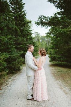 Celina and John's 9 guest, $5,000 rustic resort wedding. Photographer Bryana Riutta of Riutta Images. #weddingdress #realwedding