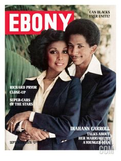 Diahann Carroll and Jet Magazine managing editor, Robert DeLeon. They wed in May They were still married when he was killed in a car accident on March Jet Magazine, Black Magazine, Life Magazine, Monthly Magazine, Black Actors, Black Celebrities, Celebs, Ebony Magazine Cover, Musica