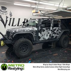 Metro Wrap Series Jumbo Cumulus Urban Night Camouflage is exclusively available at MetroRestyling. Jumbo Cumulus Urban Night Camo car wrap by Keep It Under Wraps & Villin Wraps. French Armed Forces, Country Trucks, Organic Structure, We The Best, Car Wrap, Easy Install, Jeeps, Vivid Colors, Camouflage