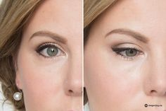Shimmery eyeshadow with pink nude lip