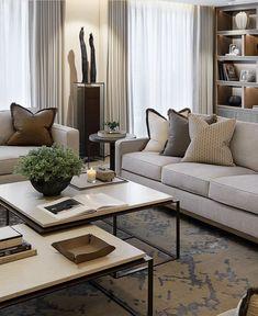 Home Room Design, Decor Interior Design, Living Room Designs, Living Room Interior, Living Room Decor, Living Room Cushions, Best Decor, Transitional Living Rooms, Home And Deco