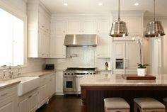 white kitchen, cool sink