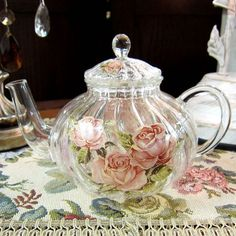 lovely teapot in glass