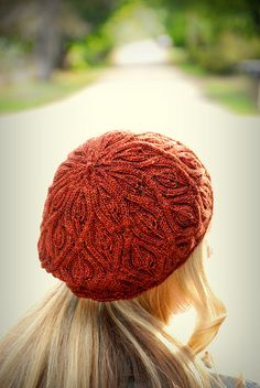 Ravelry: Autumn Vines Beret pattern by Alana Dakos