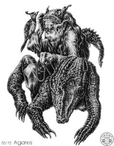 Agares, Demon and Spirit of Solomon