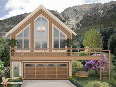 006G-0167: 2-Car Garage Apartment Plan