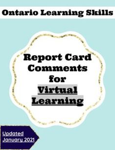 Learning Skills, Skills To Learn, Report Card Comments, Intermediate Grades, Report Cards, Progress Report, Grade 3, Teacher Newsletter, Teacher Pay Teachers