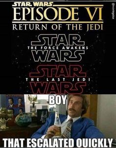 .That escalated quickly. #starwars #sw