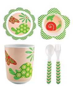 Another great find on #zulily! Snail & Turtle Dish Set #zulilyfinds