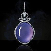 ZHAOYI 昭仪翠屋 Jade, Lavender, Gemstones, Pendant Necklace, Jewelry, Gemstone Rings, Pendant, Month Gemstones, Jewellery Making