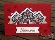 Candy Cane Lane DSP Gingerbread House Christmas Cards