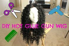 DIY Hot Glue Gun Wig For Under $20 [Video] - http://community.blackhairinformation.com/video-gallery/weaves-and-wigs-videos/diy-hot-glue-gun-wig-20-video/