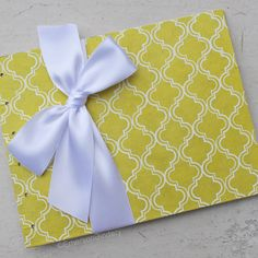 Wedding Guest Book Yellow Moroccan Print Select by EmersonBindery, $28.00