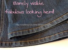 how to hem pants while keeping the original hem